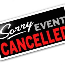 ZMF Event Cancelled