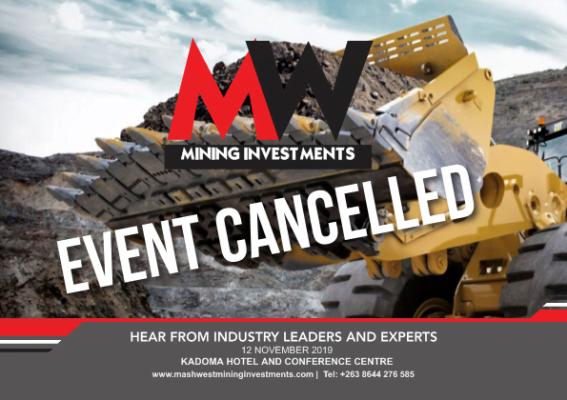 Mashwest Mining Investments Seminar Cancelled