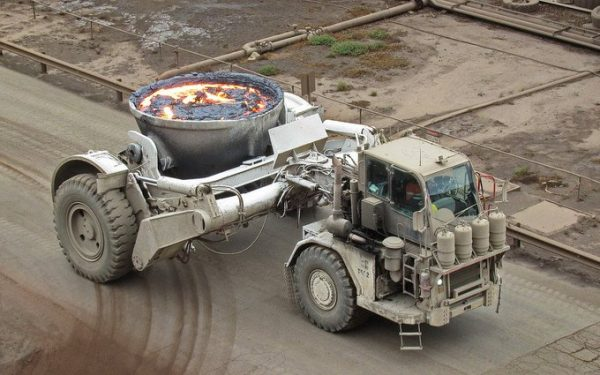 slag carrying truck