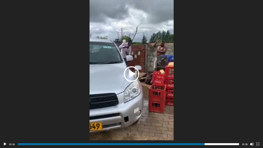 WATCH Gold buyer and accomplice assault worker