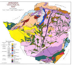 Zimbabwe geological map