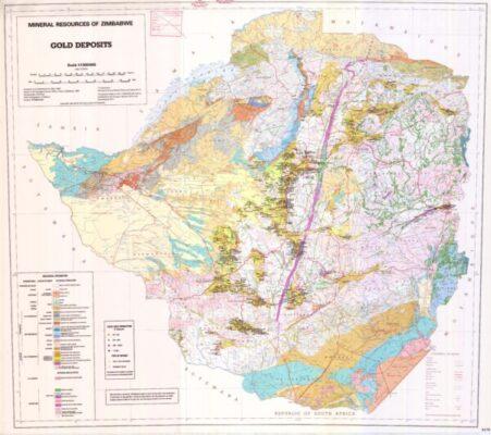 Zimbabwe Gold deposits MAP