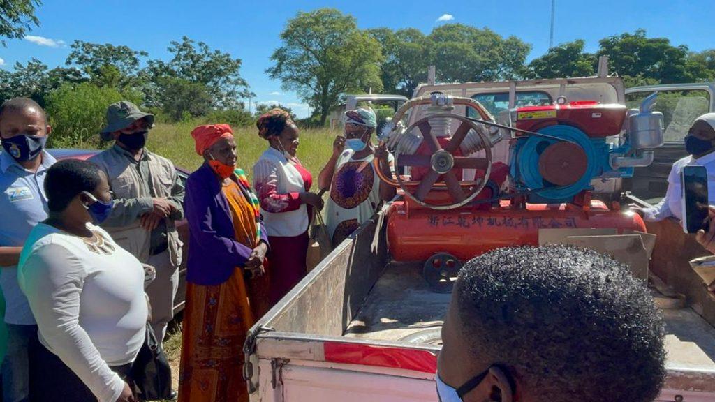 Rushwaya Donates Mining equipment to Shangani Women Miners Association