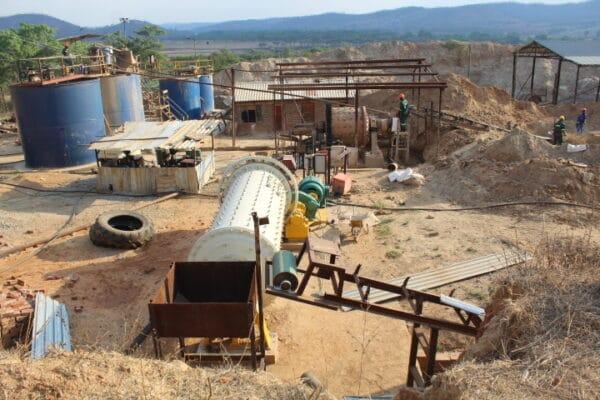 Small-scale mining operation near Harare